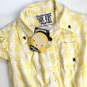 Harajuku Lovers Yellow Ant Shirt size Sm NWT